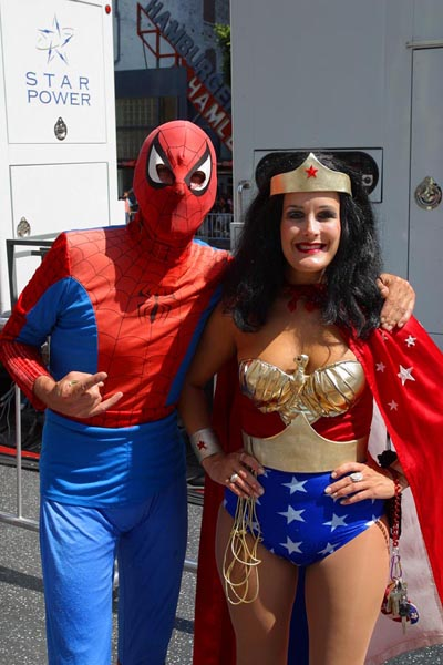 Spiderman and Wonder Woman