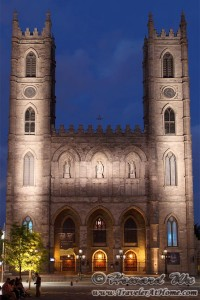 Notre-Dame Basilica at night